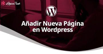 Añadir nueva página en WordPress