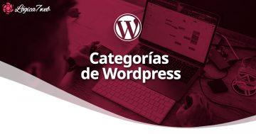 Categorías de WordPress ᐅ Guía WP 2020 | Logica7web