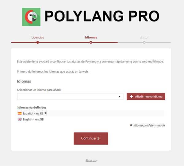 Configuración de polylang
