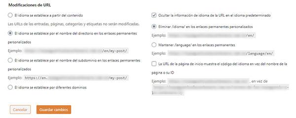 Traducir y modificar los slugs de las URLs