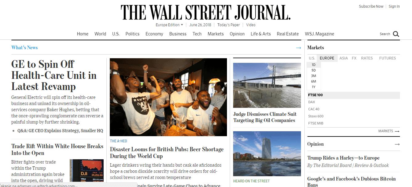 El periodico de Wall Street