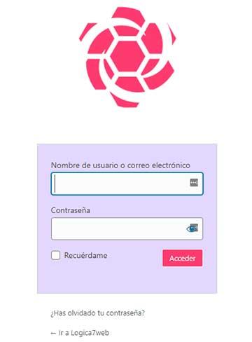 formulario de registro donde podrá ingresar su información de inicio de sesión