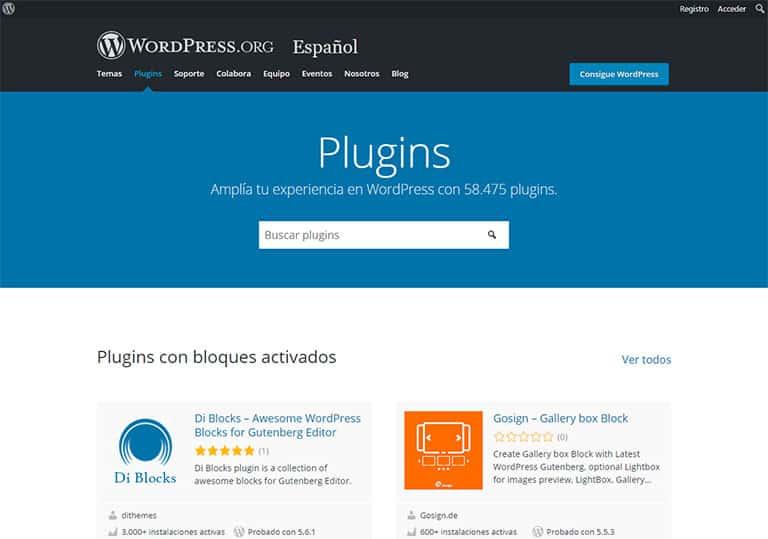 Dónde puedo encontrar plugins de WordPress
